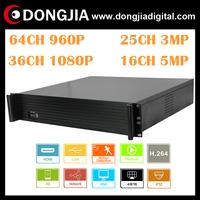 DA-2064E 2U Housing Onvif 2.0 64CH 960P/720P or 36CH 1080P or 25CH 3 megapixel or 16CH 5 megapixel Standalone H.264 Onvif NVR