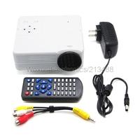 2014 Black White H100 Portable Mini Game Projector Support TV/AV/VGA/SD/HDMI LED Home Theater Digital Projector