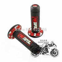 "Free Red Motorcycle pro TAPER DIRT Pit BIKE 7/8"" motocross HANDLEBAR RUBBER GEL HAND GRIPS"