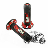 "Free Red Motorcycle pro TAPER DIRT Pit BIKE 7/8"" motocross HANDLEBAR RUBBER GEL HAND GRIPS"