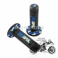 "Free Shipping 1Pair Blue Motorcycle pro TAPER DIRT Pit BIKE 7/8"" motocross HANDLEBAR RUBBER GEL HAND GRIPS"