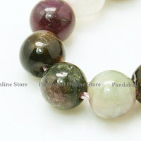 Natural Tourmaline Beads strands, Round, 6mm, Hole: 1mm