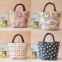 Cute&Fashion Waterproof Canvas/Oxford Casual Handbag/Lunch Little Bag Q0001 For Women Or Kids, Free Shipping