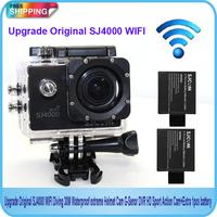 Free shipping!!Original SJ4000 WiFi Sport Action Waterproof Camera+Extra 1pcs battery