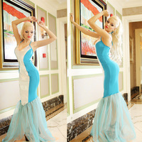Fantasia Halloween Cosplay  Costumes  For Women  Sexy Adult Blue  Mermaid Tail Costume Carnival Outfit For Adult Women Dress Up