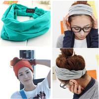 Women's Hairband Cotton wide  Head Wear Sport Style Hot Selling Hair Accessories
