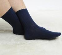 (6Pairs/lot)2014 Autumn winter stripe pure color boneless stitching cotton men socks
