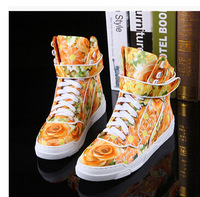 Plus Size Designer Genuine Leather High Top Sneakers For Women &Men Winter Autumn Fashion Flower Camouflage Famous Sport Shoes