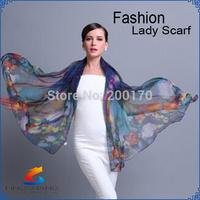 Valentine's Day gift!2014 New Fashion autumn summer silk Scarf women winter warm High quality Brand Scarf Wrap Shawl scarves
