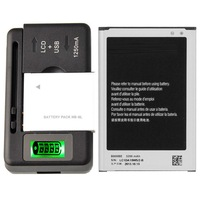New Original Battery B800BE &Charger For Samsung Galaxy Note III SM-N900V 3200 mAh
