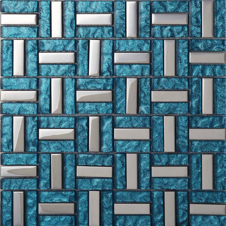 glass sea blue tile backsplash kitchen wall decoration bathroom walls