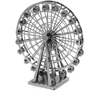 1Piece Metal Works DIY 3D Laser Models / Assemble Miniature Metal 3D Model,Metallic Nano Puzzle-Ferris Wheel