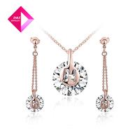 2014 Luxurious atmosphere asymmetric large pendant necklace embellished wafer