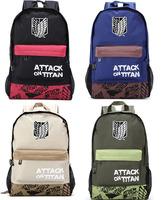 3PCS 4Color Attack on Titan casual shoulder bag / Backpack / Dual-use backpack Shoulders Messenger laptop Computer  school bag