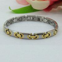 38 Jewelry Brand Charm European Stainless Steel Bracelet Men Magnetic Tourmaline steel Bracelet