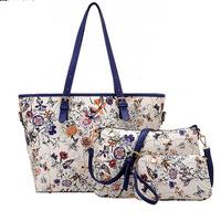 2014 hot new three-piece Floral Picture bag handbag pu leather shoulder bag big bag women handbag women messenger bags bolsa