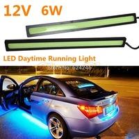 Free shipping 2pcs/lot COB Car LED Daytime Running Light 17cm LED Car DRL lamp Fog Driving Light Super Bright generally car fits