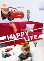 Free Shipping: XL Fashion  Car  Cartoon Transparent PVC Wall Decals/Wall Mural PVC Wall sticker Room Decor/DIY Wall Decor