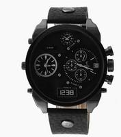 drop shipping 1pcs retail Newest high quality  luxury brands sport DZ watch men quartz watch famous brand leather wristWatch