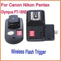 16 Channels Radio Wireless Remote Speedlite Flash Trigger with Umbrella Hole /Holder for Canon Nikon Pentax Olympus PT-16NE