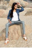 2014 autumn quality women's pencil pants jeans 100% cotton elastic slim female trousers  9809