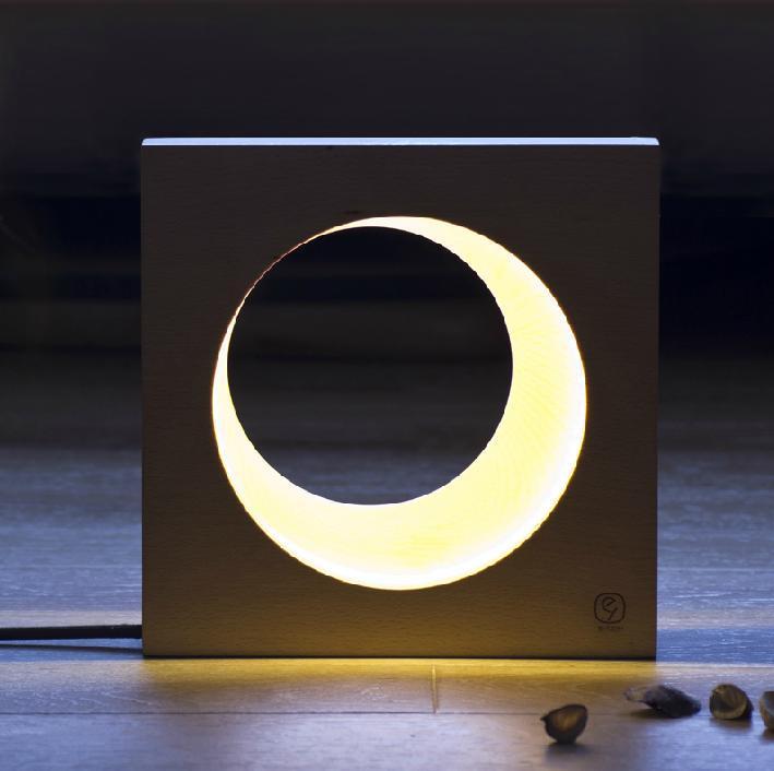 zhu45lights light lamps desk lamp table lamp designer pendant light living Moon Night Light Half Moon Light LED nightlight(China (Mainland))