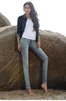 2014 autumn hole denim skinny pants pencil pants 100% quality fashion patchwork cotton trousers female  8020