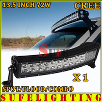 Free DHL Shipping 13.5inch 72W Curved LED Light Bar Combo Beam For Off Road 4x4 Truck SUV ATV AUTO CAR LED Work Light Bar 120W