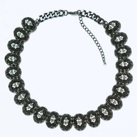 Hot Sale and Free Shipping High Quality Black Charm New 2014 Fashion Statement Necklace Crystal Short Women Jewelry