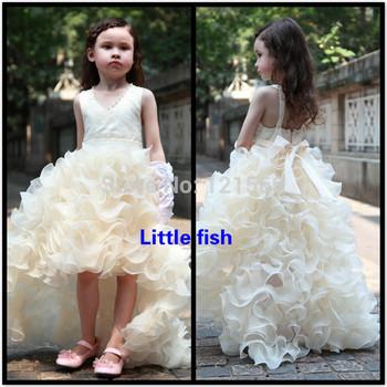 Бесплатная доставка театрализованного платья для девочек блеска элегантный задней ...