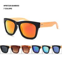 Hot sale bamboo glasses Natural Bamboo Arms bamboo sunglasses   Free Shipping 1028