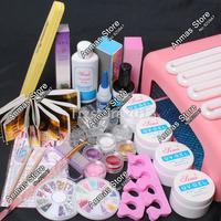 New 36W UV Dryer Lamp Timer Block Sanding French Nail Art Tips Gel Tools DIY Kit #60