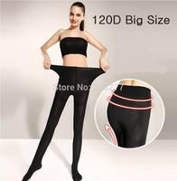 5pcs 120D Big size Sexy Full Foot bamboo fiber Women's Long Stockings Tights Pantyhose Panties Wholesales Free Shipping velet