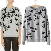 2014 New Fashion Brand Sport Suit Women Hoodies Moleton Feminino Plus Size Casual Loose Tracksuits Pullovers Printed Sweatshirt