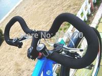*Retail* Aluminum Alloy 25.4mm diamter 590MM MTB Mountain Road Bike Bicycle Large Bent Butterfly Handlebar Black New