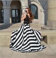 Large Wing Chiffon Lace Long Dress sleeveless hollow Striped Print Dress Summer 2014 New Casual Maxi Dress
