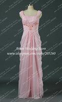 Elegant Pink Cap Sleeve Evening Dress Long U157 Party Dress Gown Floor Length Vestido De Festa Longo