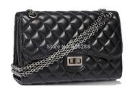 lady  famous brand bag designer Faux leather handbag Fashion Women's 2.55 Double Flap Bag chain Quilted Bag S/M/L size