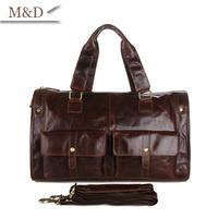 Classic Vintage Leather Men's Briefcase Laptop Bag Messenger Handbag 2014 Hot Selling