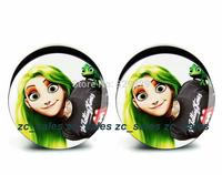 Wholesale 60pcs anime girl logo plug acrylic screw fit ear plug flesh tunnel ear gauges mix sizes 6mm-25mm A0205