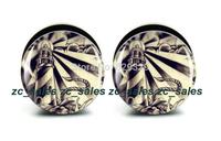 Wholesale 60pcs light house plug acrylic screw fit ear plug flesh tunnel ear gauges mix sizes 6mm-25mm A0214