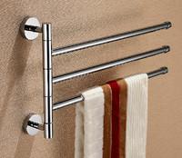 Three Levers Solid Brass Chrome Elegant Swivel Towel Bar,Towel Holder Bathroom Products / Bath Accessories (UP-BB01)