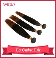 Brazilian Ombre Hair Straight Human hair Weaving Two Tone #1B/30 12'' 14'' 16'' 18'' 20'' 22' 24'' 26'' 28'' 30'' Wigiss H6057AZ