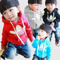 Free shipping 2014 Autumn Winter children outerwear Korean version boys girls Hooded Jackets Sweatshirts
