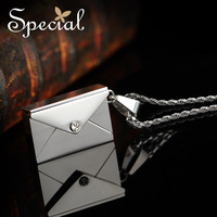 Special Necklace Titanium Steel Switzerland Can Opened Envelopes Free Shipping Pendant Gifts For Couples XL1411111