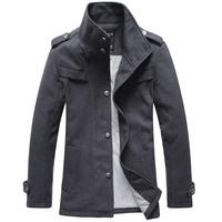 Free shipping 2015 new arrival winter jacket Men's woolen jacket winter coat