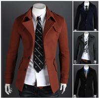 The new men's Korean cultivating long windbreaker jacket A8707