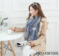 2015 Fashion Voile Animal Print Scarf