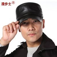Walk leather men's winter   Korean sheepskin outdoor cap male Hat