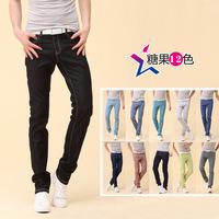 2014Autumn men denim fashionable  famous manufacturers men jeans waist icon cotton jeans men's jeans trousers levs jeans